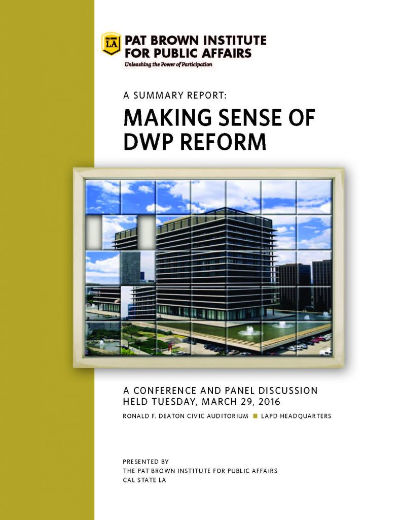 , 2016 Making Sense of DWP Reform