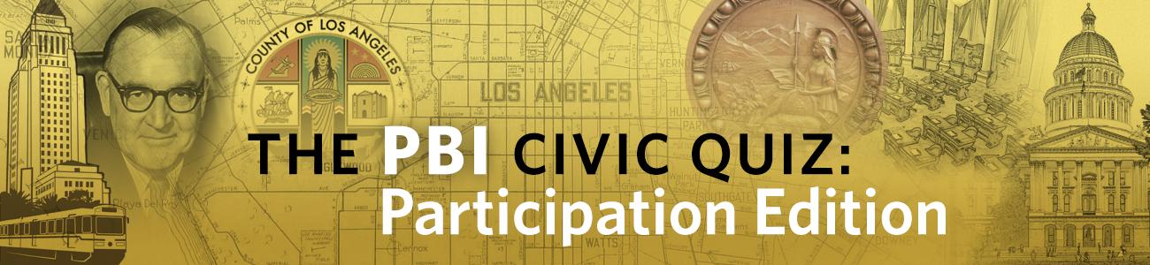 , PBI Quiz: Participation Edition