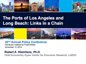 LAEDC Recent and Future Trends in the Ports