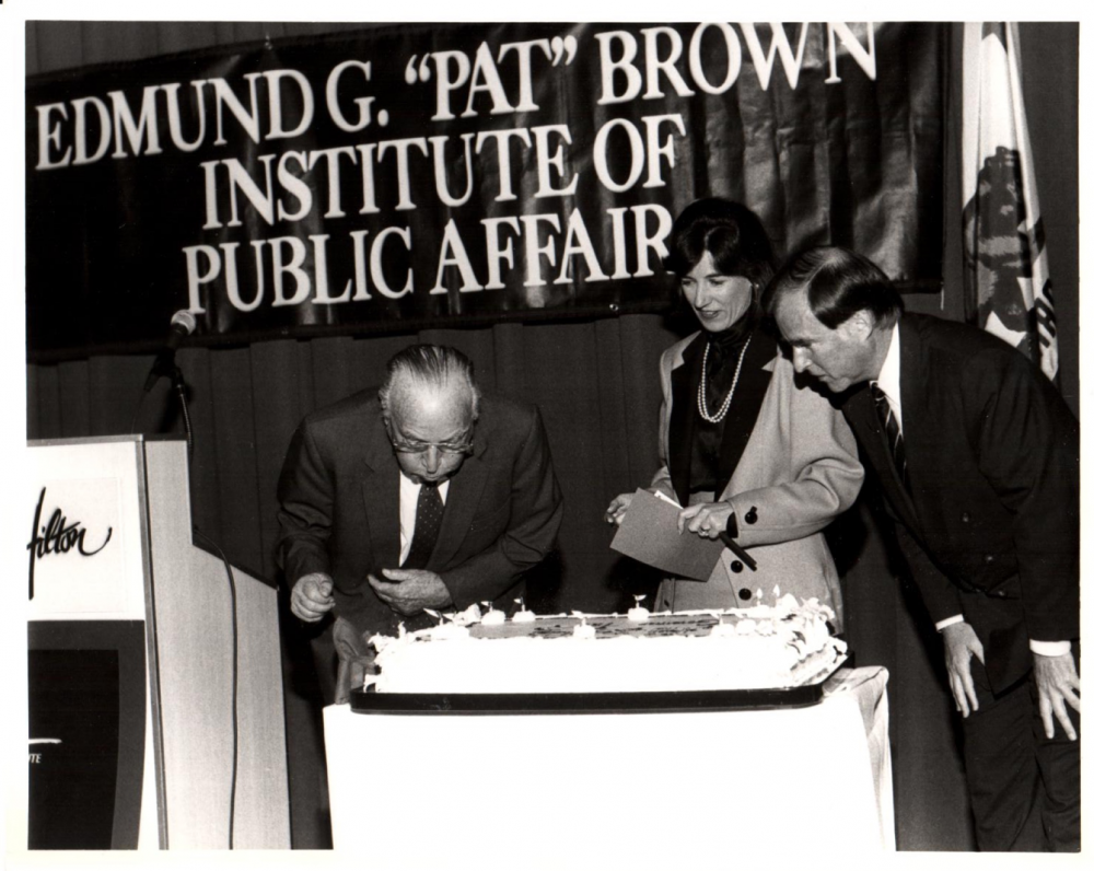 Pat Brown Blowing Out Candles