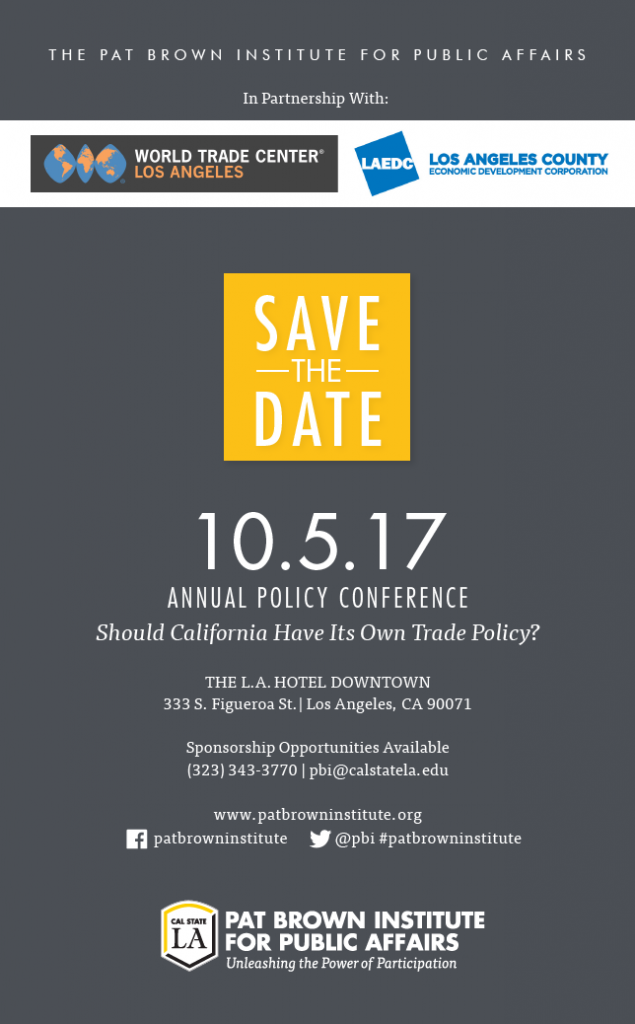 2017 Annual Conference Save the Date Flyer