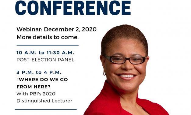 PBI Annual Conference: December 2, Featuring Representative Karen Bass