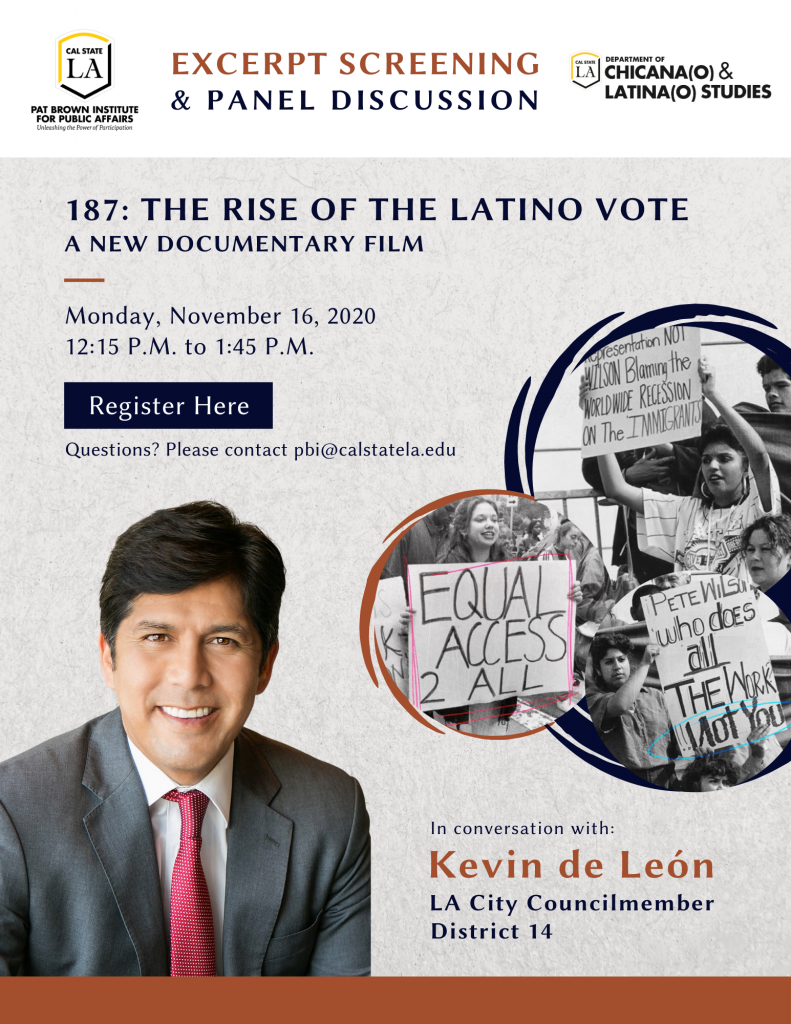 187: The Rise of the Latino Vote Excerpt Screening and Discussion
